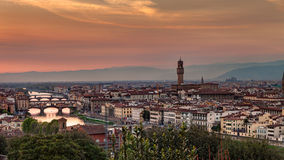 Florence at sunset Stock Photo