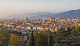 Florence at sunset Stock Image