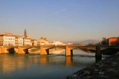 Florence sur le coucher du soleil Images stock