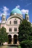 florence synagoga Arkivbild