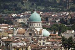 Florence, synagoga och museum av Hebraic konst och kultur, Tuscany, Italien Arkivbild