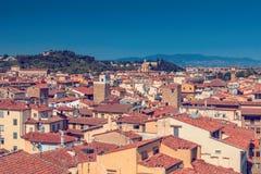Florence tak, Italien Fotografering för Bildbyråer
