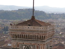 Florence, top of the cathedral belfry Stock Images