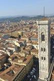 Florence, tour de cloche des giotto Image libre de droits