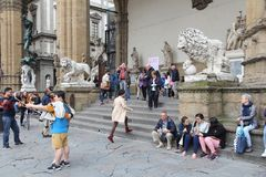 Florence tourists Royalty Free Stock Image