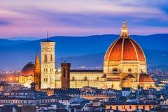 Florence Tuscany, Italien - Duomo Santa Maria del Fiori Royaltyfria Foton