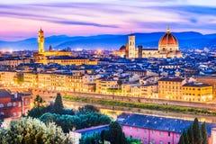 Florence Tuscany, Italien - Duomo Santa Maria del Fiori Arkivbilder