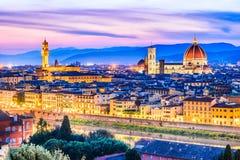 Florence Tuscany, Italien - Duomo Santa Maria del Fiori Royaltyfri Foto