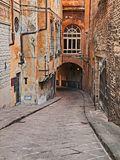 Florence, Tuscany, Italy: alley in the old town Royalty Free Stock Image