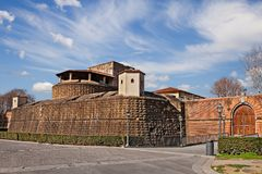 Florence, Tuscany, Italy: the ancient fort Fortezza da Basso Royalty Free Stock Photography