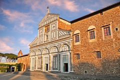 Florence, Tuscany, Italy:  Basilica of San Miniato al Monte Stock Image