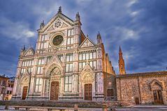 Florence, Tuscany, Italy: Basilica of Santa Croce Stock Photography