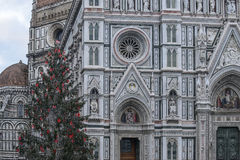 Florence, tuscany, italy, europe, christmas decorations Stock Photos