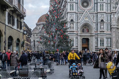 Florence, tuscany, italy, europe, christmas decorations Stock Photo