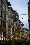 Florence, tuscany, italy, europe, christmas decorations Stock Photo