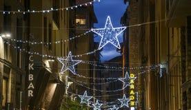Florence, tuscany, italy, europe, christmas decorations Stock Images