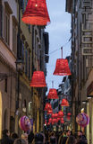 Florence, tuscany, italy, europe, christmas decorations Royalty Free Stock Image