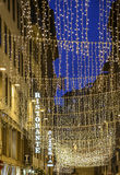 Florence, tuscany, italy, europe, christmas decorations Royalty Free Stock Photo