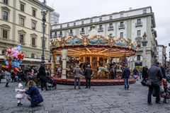 Florence, tuscany, italy, europe, christmas festivities Royalty Free Stock Photography
