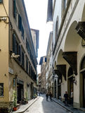 View of the beginning of the street called `Via Porta Rossa` Royalty Free Stock Images