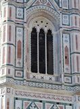 Florence Tuscany Italy, detail of the famous Giotto`s campanile, stock photos