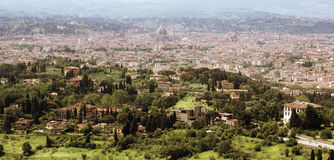 Florence in Tuscany, Italy panorama view from the North of the c Stock Photo