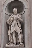 Statue of Michelangelo Buonarroti in Florence, Italy Royalty Free Stock Images