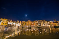 Florence, Tuscany, Italy. View of Ponte Vecchio at night in Florence, Tuscany, Italy Royalty Free Stock Photo