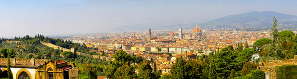 Florence Tuscany panorama Royalty Free Stock Photos