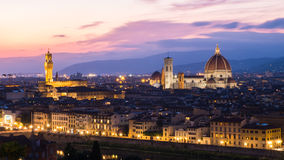 Florence at twilight, Italy Stock Image