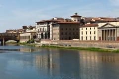 Florence. Uffizi Gallery and  Ponte Vecchio bridge Stock Image