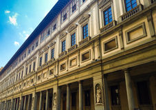Florence uffizi. This outlook showing Uffizi Gallery, Palazzo Vecchio and Duomo in Florence, Italy royalty free stock photos