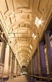 Florence Uffizi's Gallery entrance at night stock image