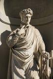 Florence uffizi statue Dante Alighieri Royalty Free Stock Photography