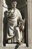Florence uffizi statue Dante Alighieri Royalty Free Stock Images