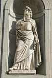 Florence uffizi statue Francesco Petrarca Royalty Free Stock Photo