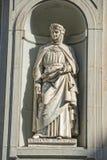 Florence uffizi statue Giovanni Boccaccio Stock Photos