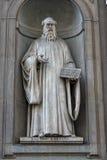 Florence uffizi statue Guido Aretino Stock Image