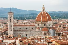 Florence, UNESCOarv och hem till den italienska ren?ssans som, ?r full av ber?mda monument och konstverk ?ver hela v?rlden arkivfoto