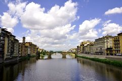 Free Florence Urban Scape With Arno River And Buildings , Italy Stock Image - 13303881