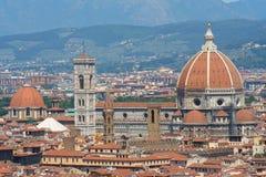 Florence van hierboven Royalty-vrije Stock Afbeelding
