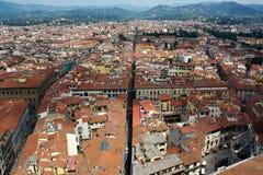 Florence van hierboven Royalty-vrije Stock Fotografie