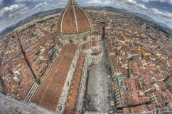 Florence van hierboven Royalty-vrije Stock Foto