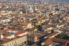 Florence van hoogte Royalty-vrije Stock Afbeeldingen