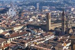 Florence van hoogte Royalty-vrije Stock Foto's