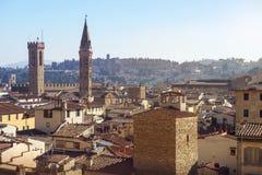 Florence van hoogte Stock Foto