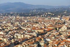 Florence van hoogte Stock Fotografie