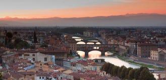 Florence van Piazzale Michelangelo stock fotografie