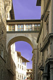 Florence, Vasari-Gang Stock Fotografie