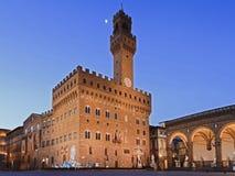 Florence Vecchio Palace Rise Royalty Free Stock Image